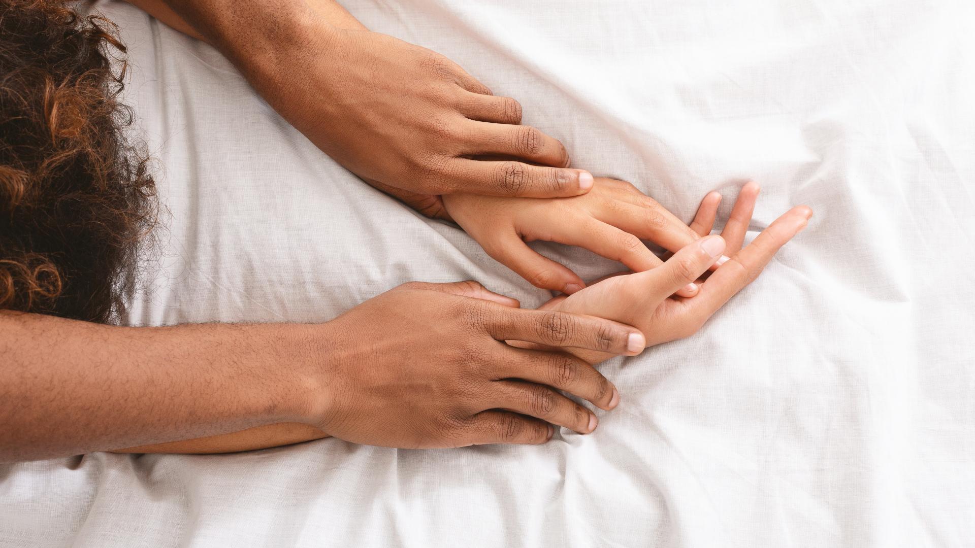 Paar Sex im Bett