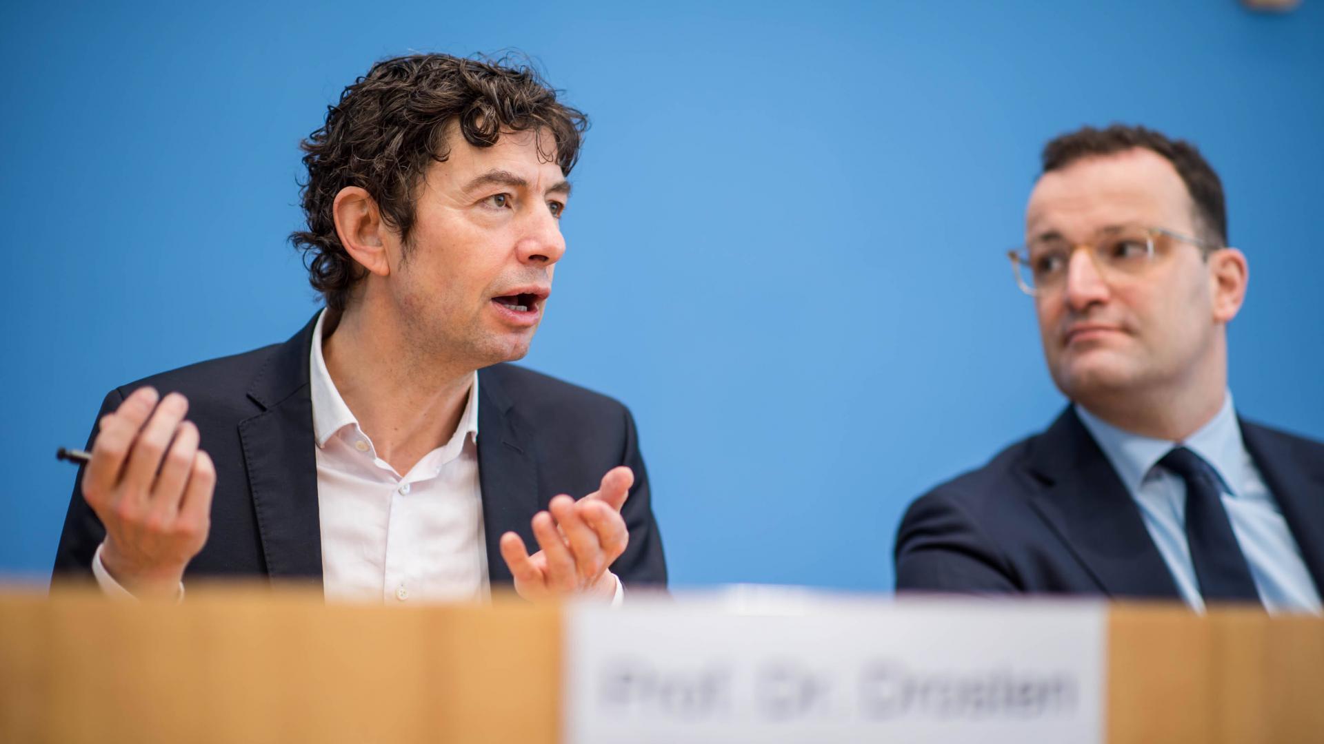 Christian Drosten und Jens Spahn Bundespressekonferenz