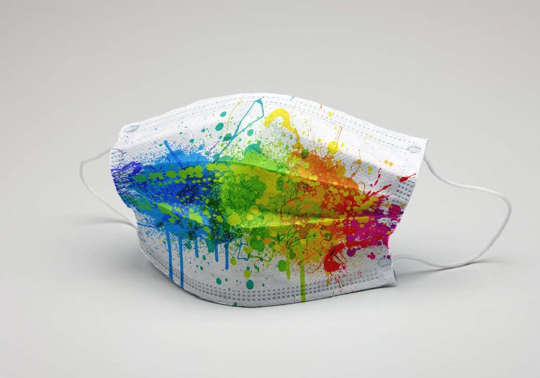 Maske Splash farbig