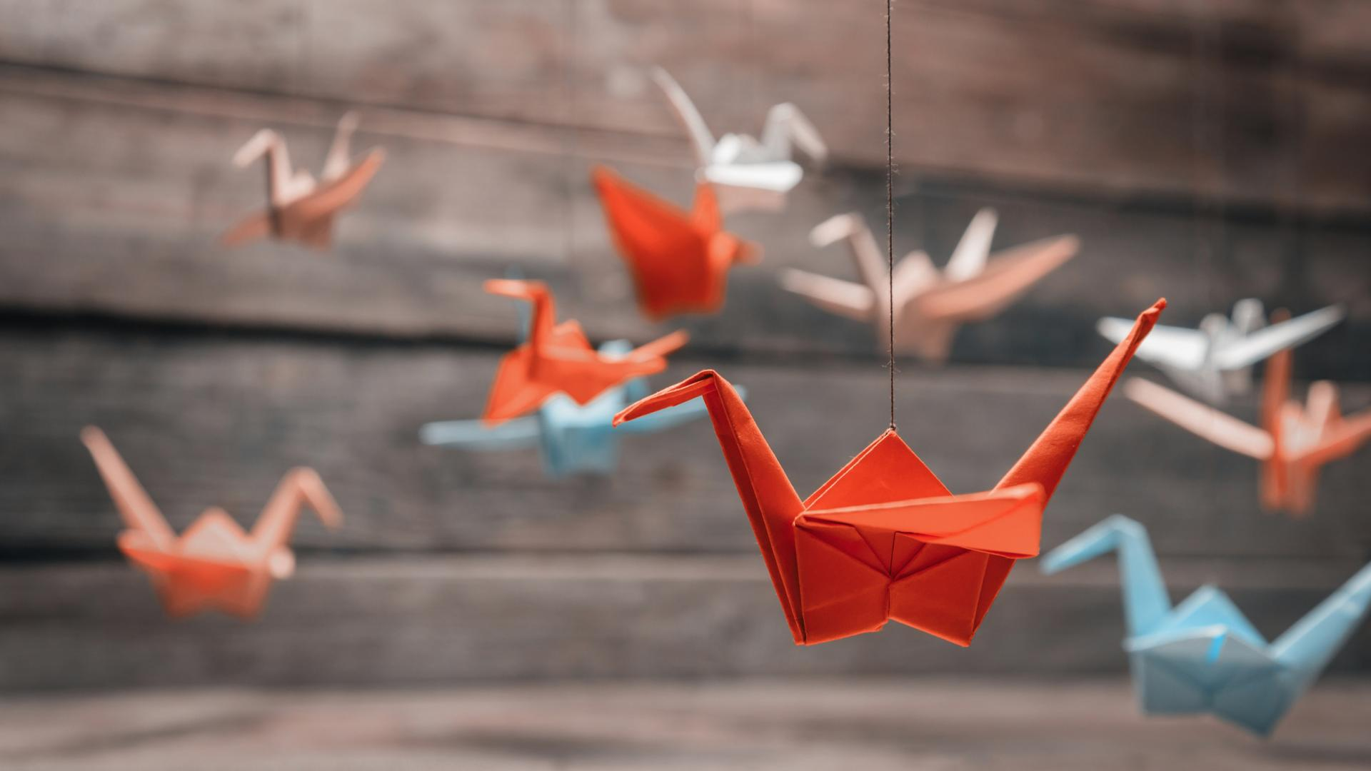 Origami Figuren Kranich