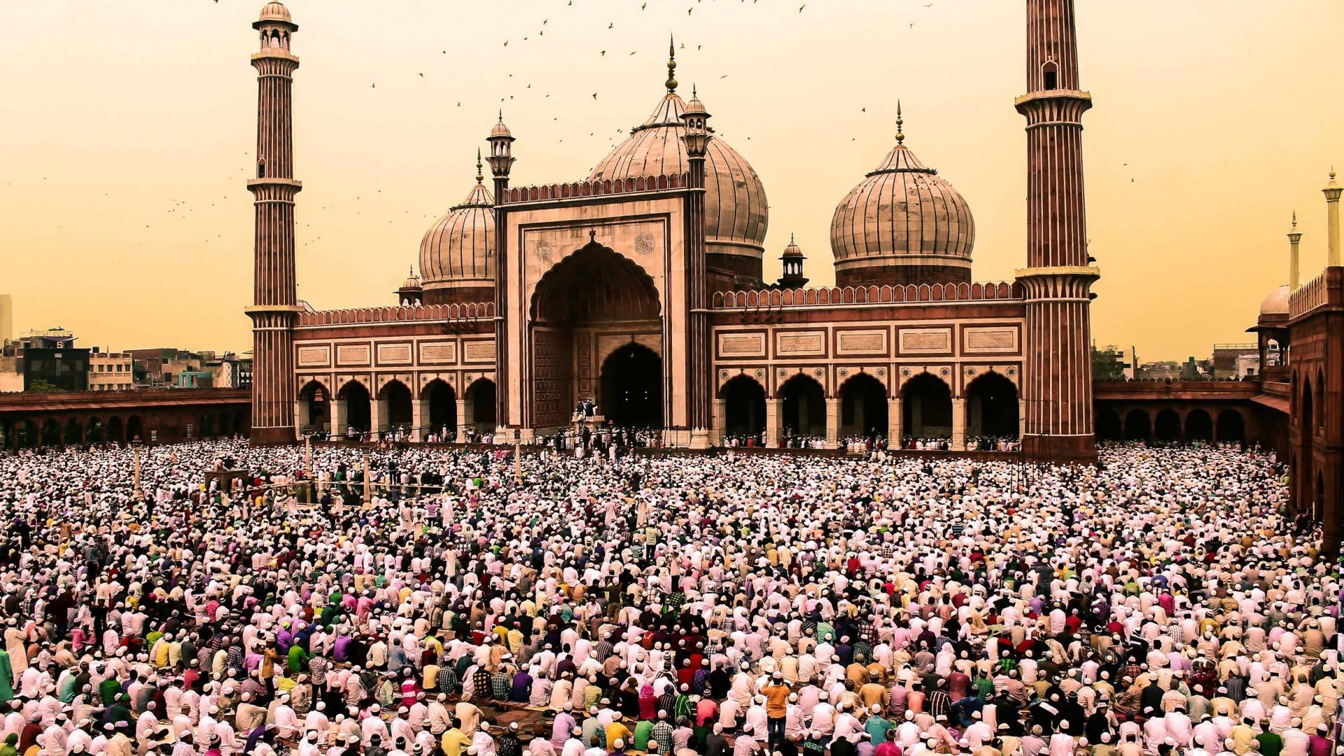 Muslime Moschee Islam Beten