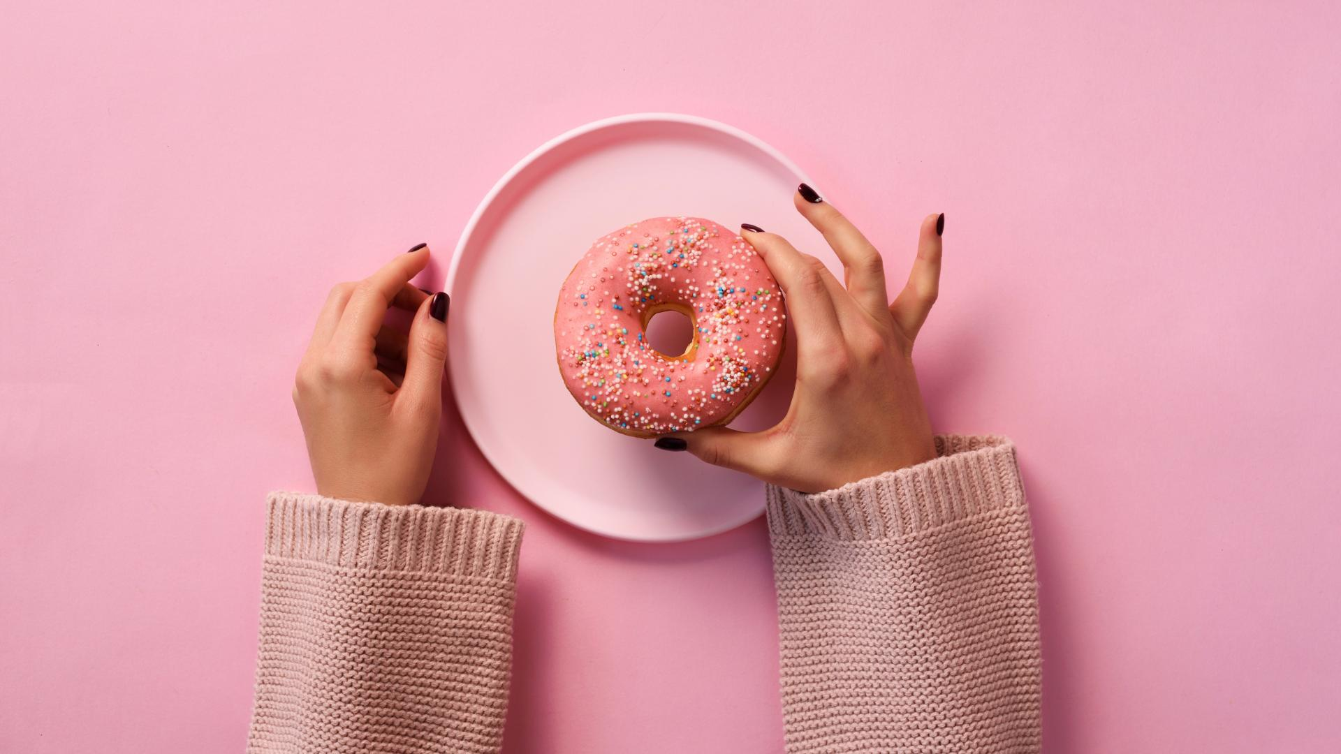 Hände Donut