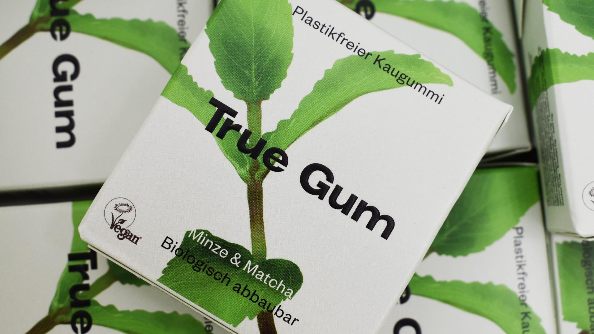 True Gum: Der Kaugummis ist eine gute kunststofffreie Alternative.