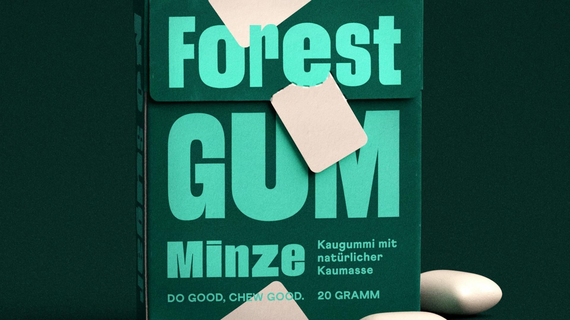 Forest Gum: Der Kaugummi aus Deutschland ist ebenfalls plastikfrei.