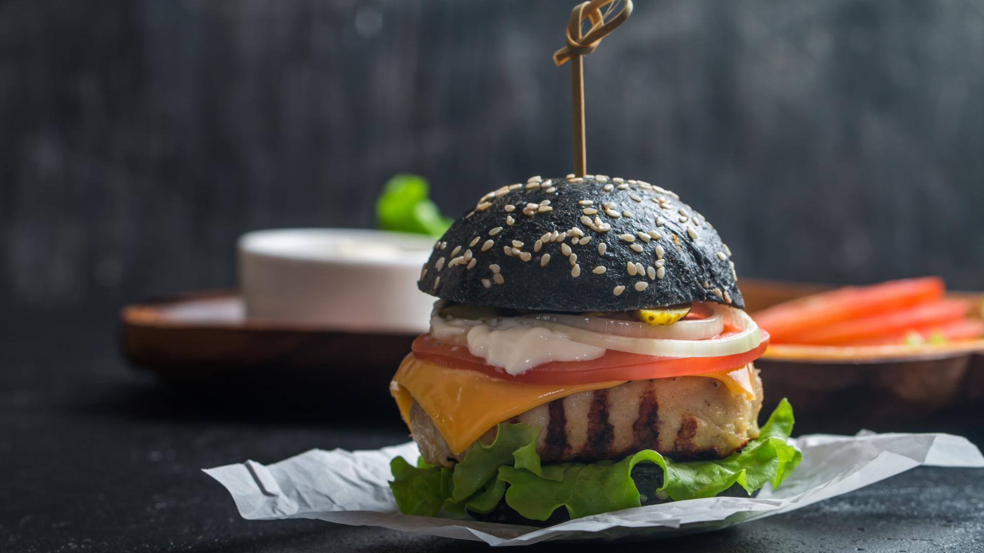 Burger Black Bun