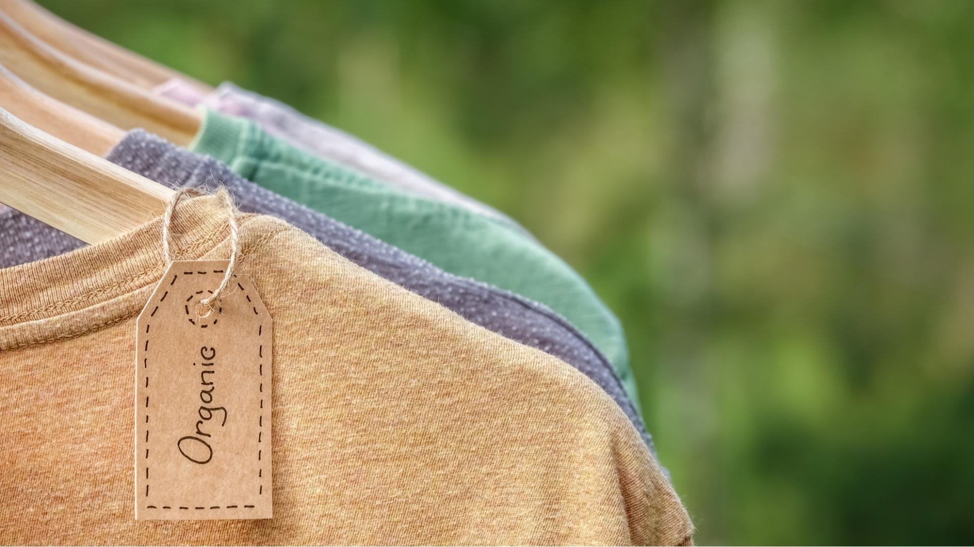 Hanf Kleidung Schild Organic