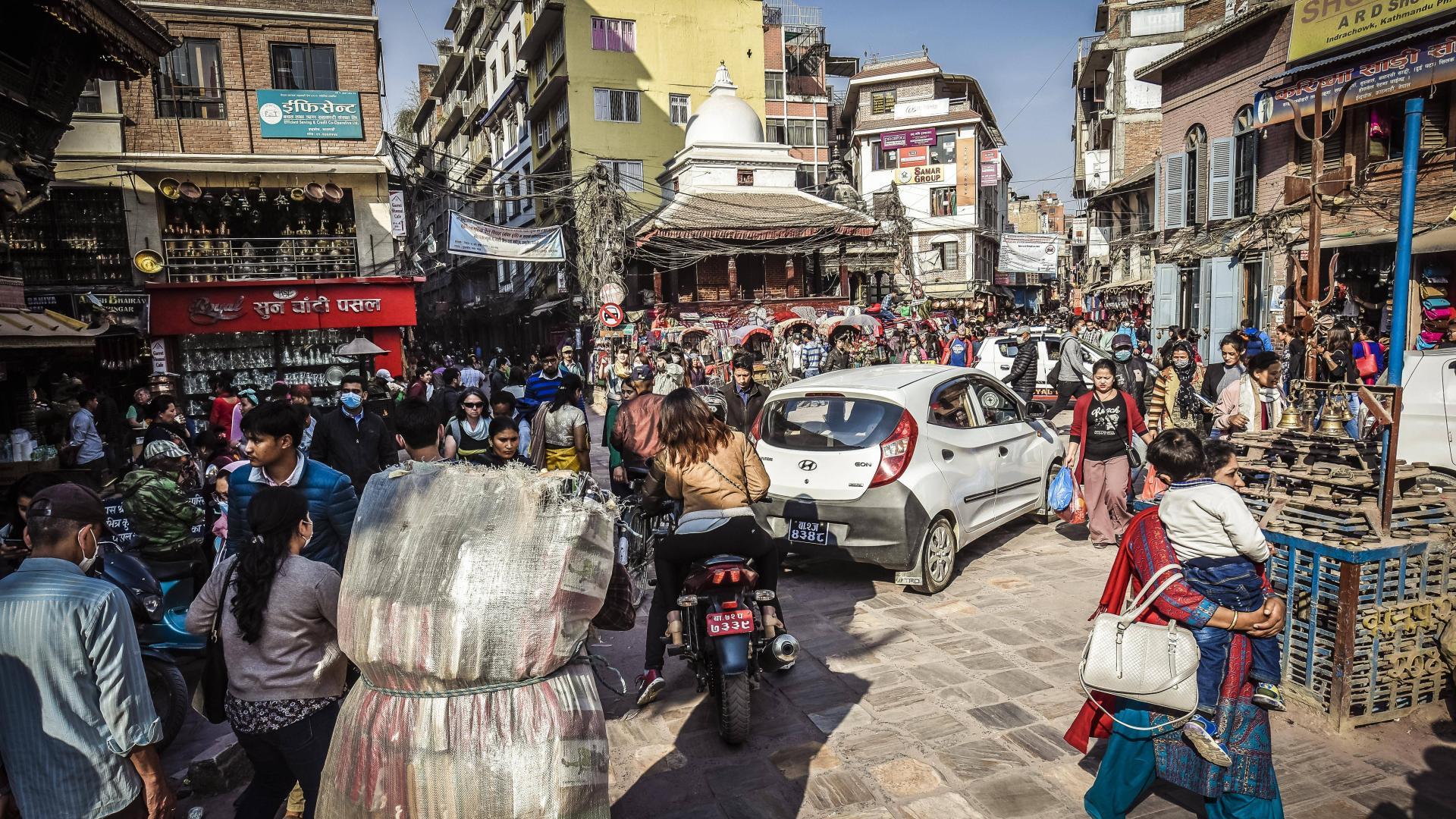 Die Altstadt von Kathmandu