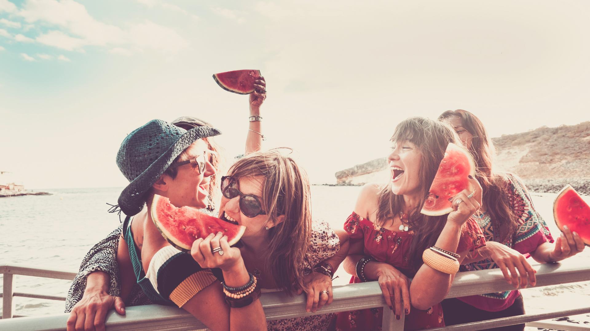 Frauen Melone Party Sommer Spaß