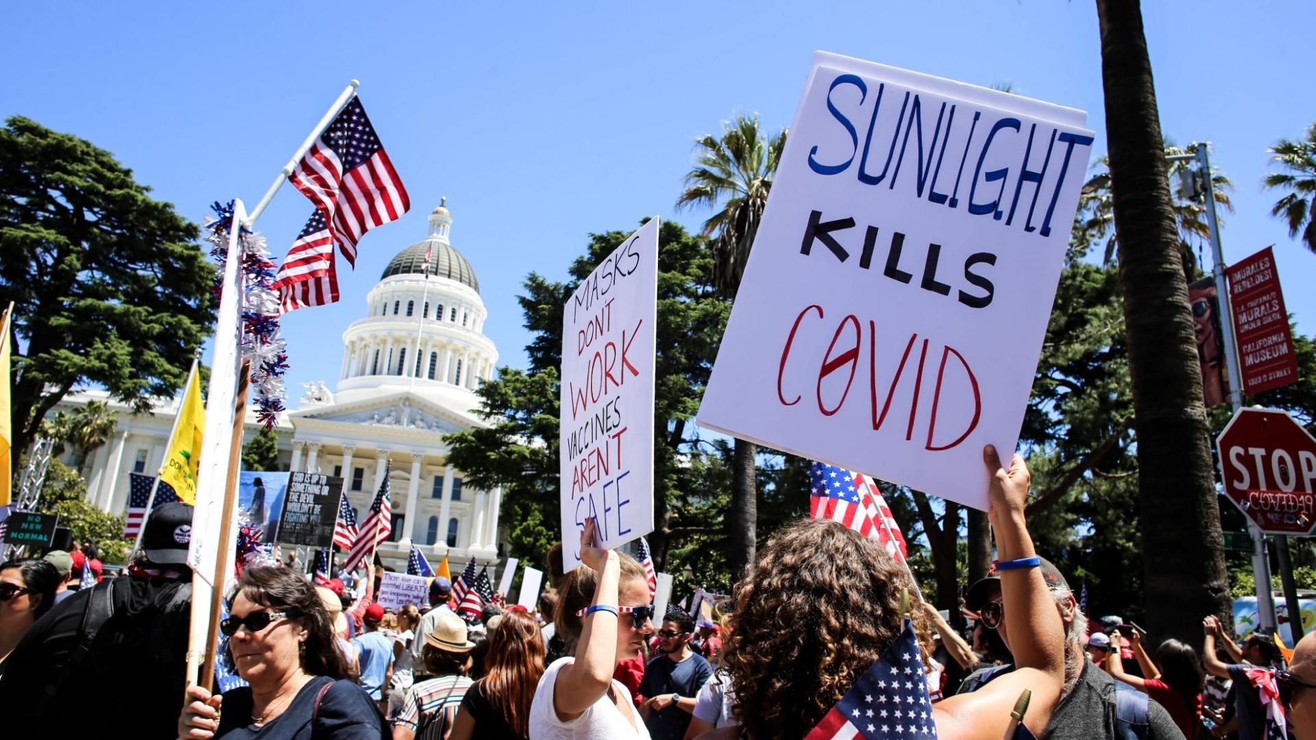 Demonstration USA Corona