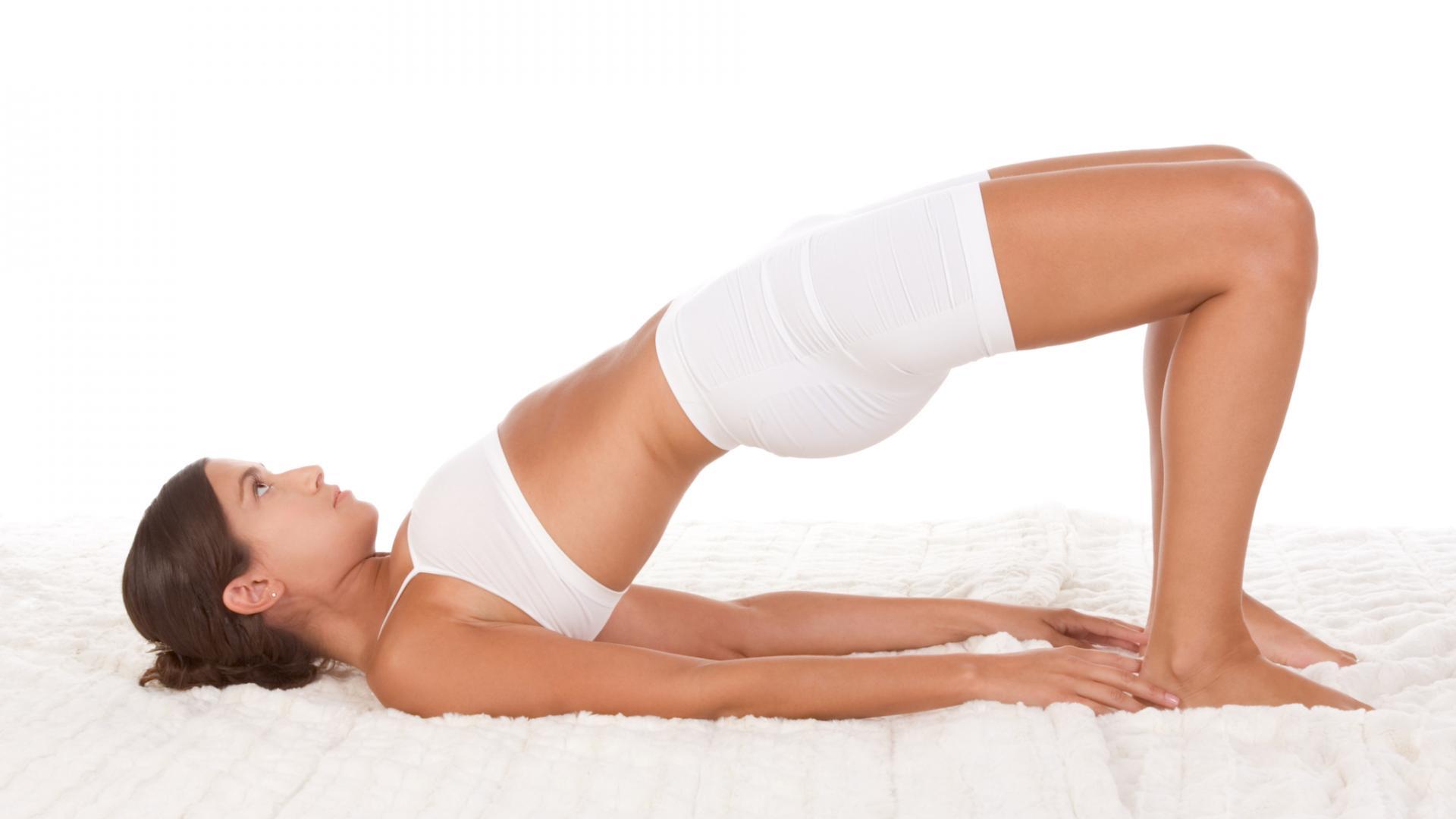 Yoga im Bett