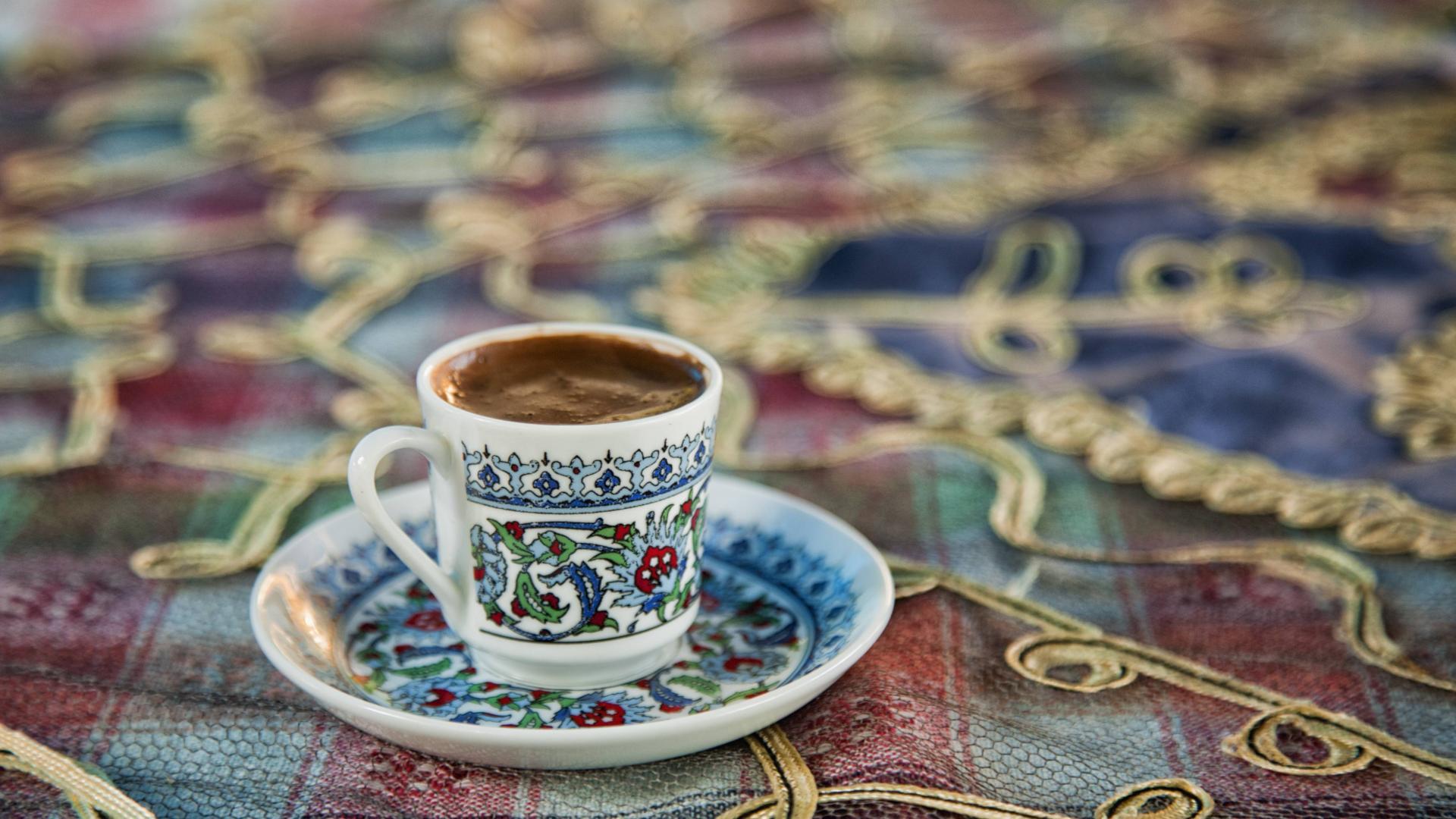 Türkischer Moccha, kaffee tasse