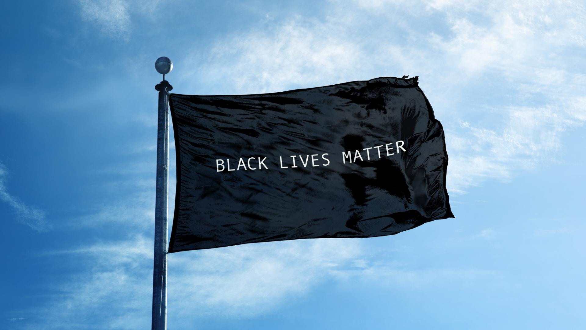 Blacklivesmatter Fahne