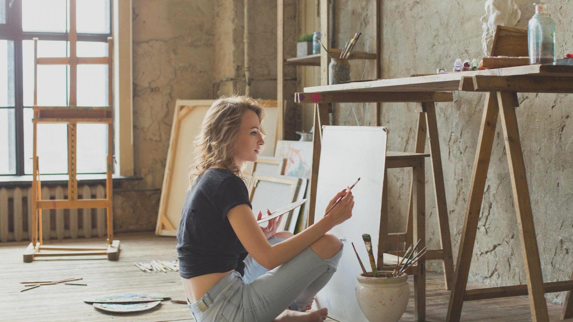 Frau Malen Kunst Hobby