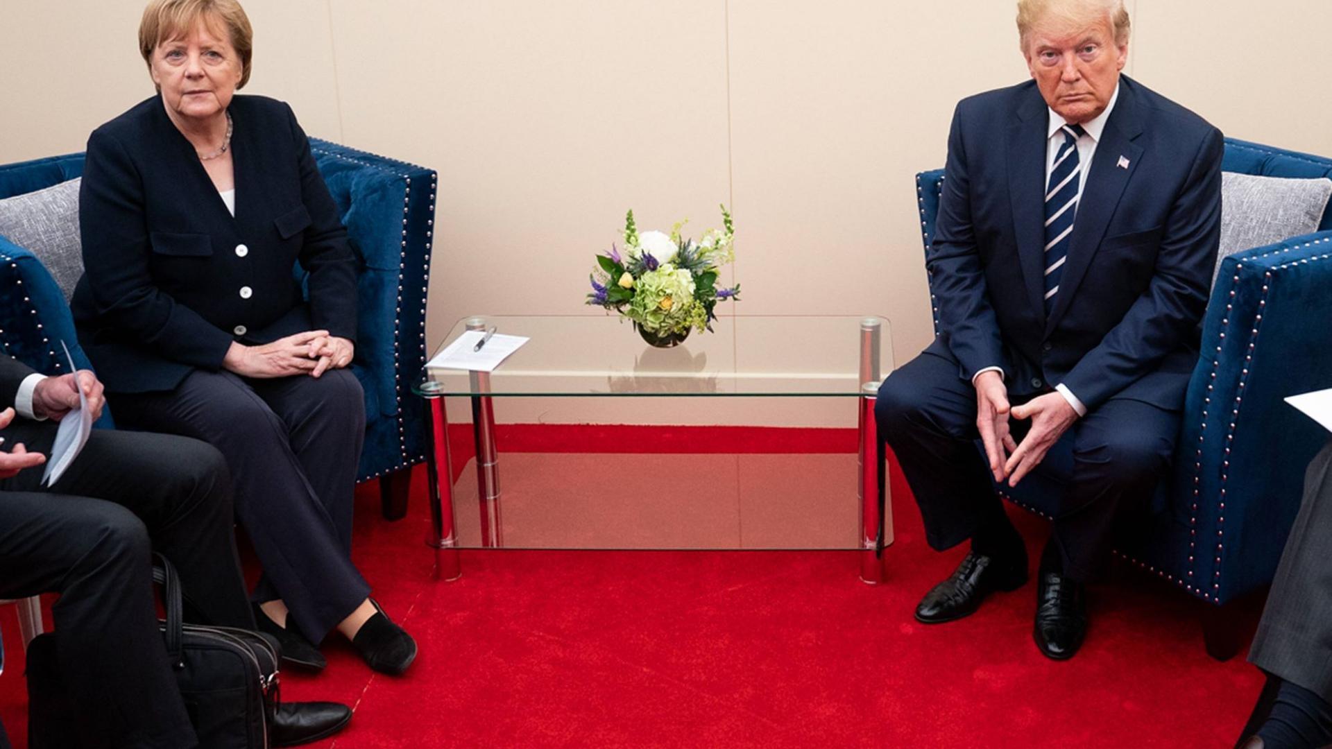 Donald Trump und Angela Merkel