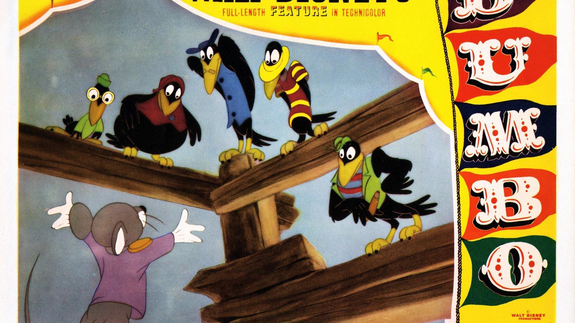 Filmplakat von Dumbo mit Krähen