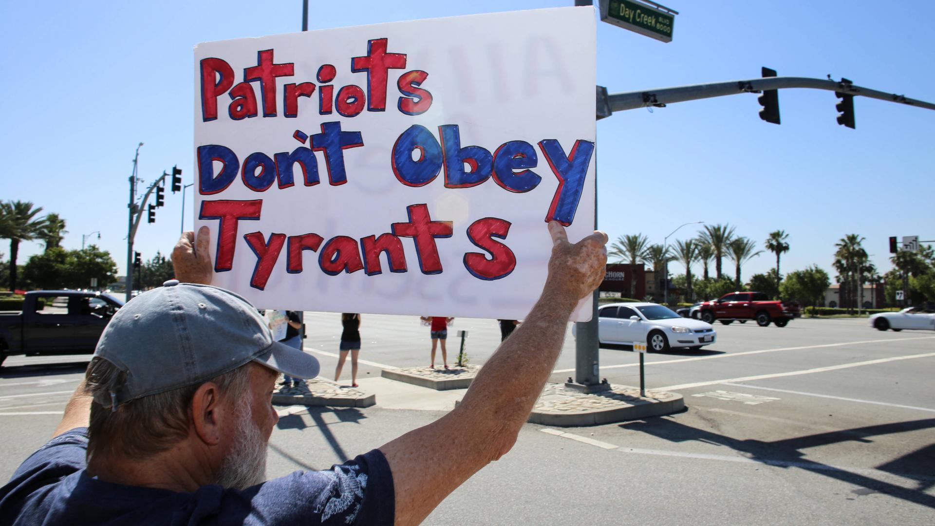 Patrioten Demo USA corna