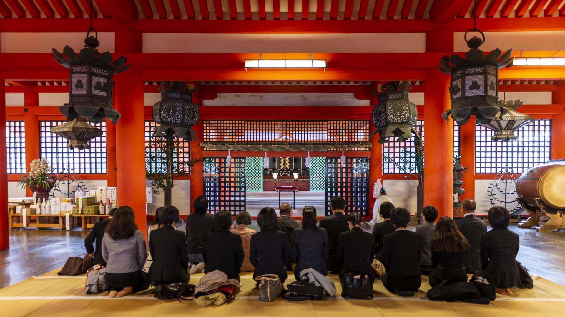 Itsukushima,Schrein, Japan, Asien, Religion, Gebet, Japaner, Temple.