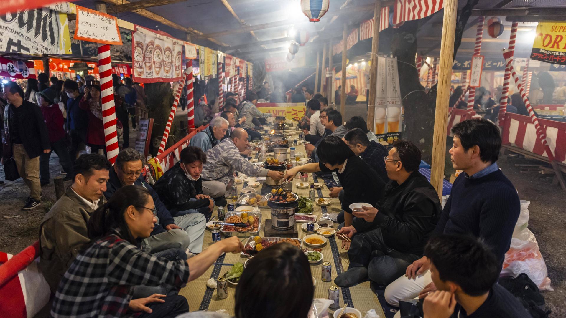 Tafel, Abendstimmung, Essen, Hirano Schrein, Kyoto, Japaner, Asien, Japan
