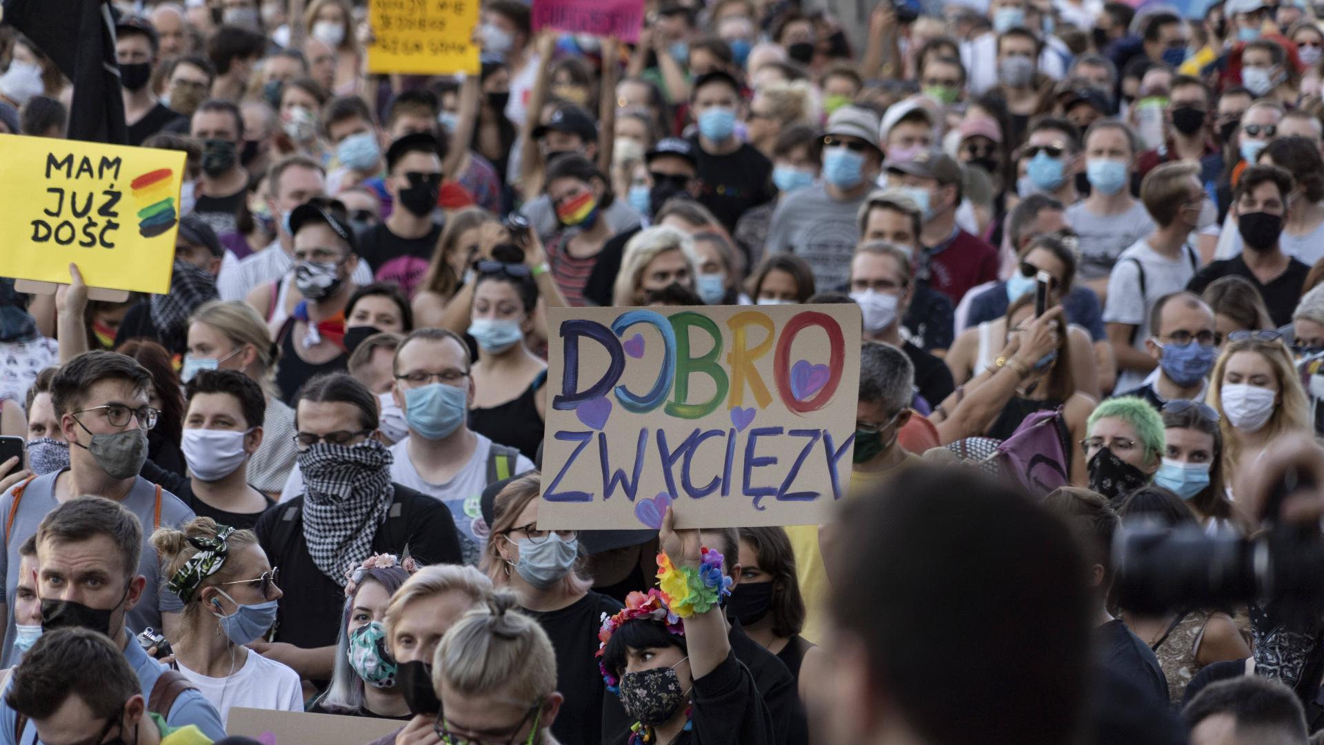 Polen LGBT Rechte Protest