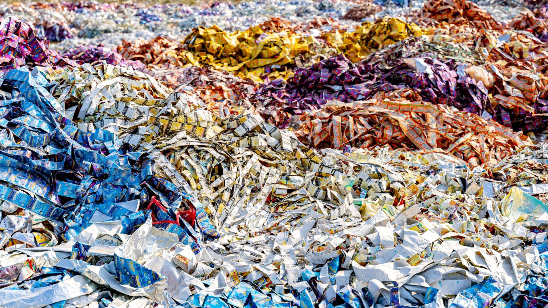 Plastikberge Februar 2020 in Indien Mikroplastik