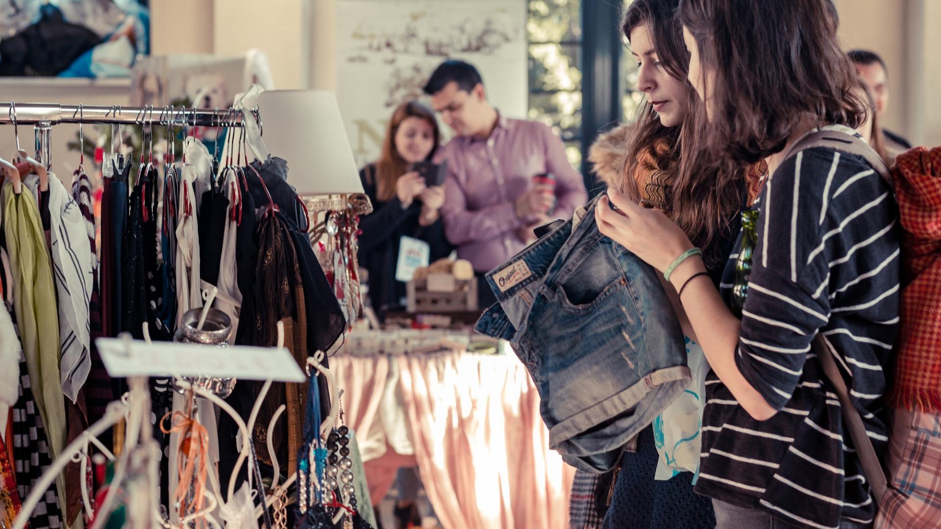 Frauen, Shoppen, Markt