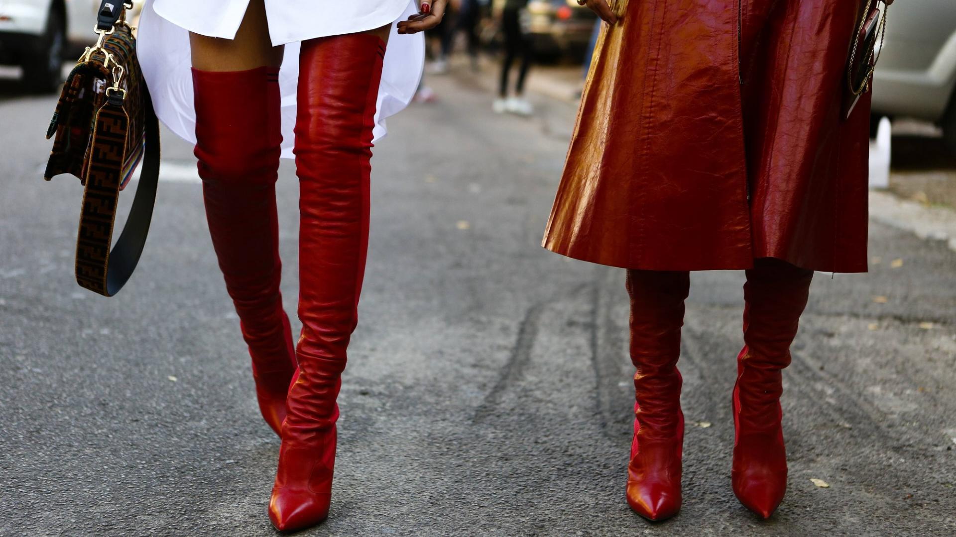 Leder, Lederstiefel, Herbsttrend, Schuhe