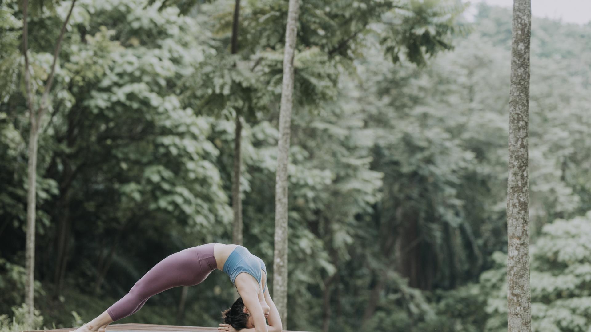 Brücke Sport Frau Fitness Yoga