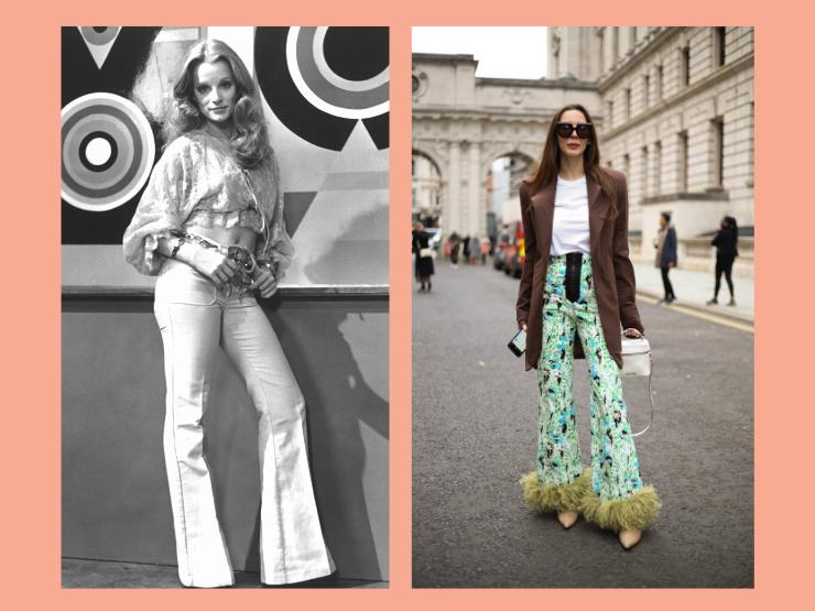 70er Jahre Mode, Schlaghosen