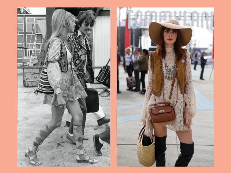 70er Jahre Mode, Hippie-Cowgirl