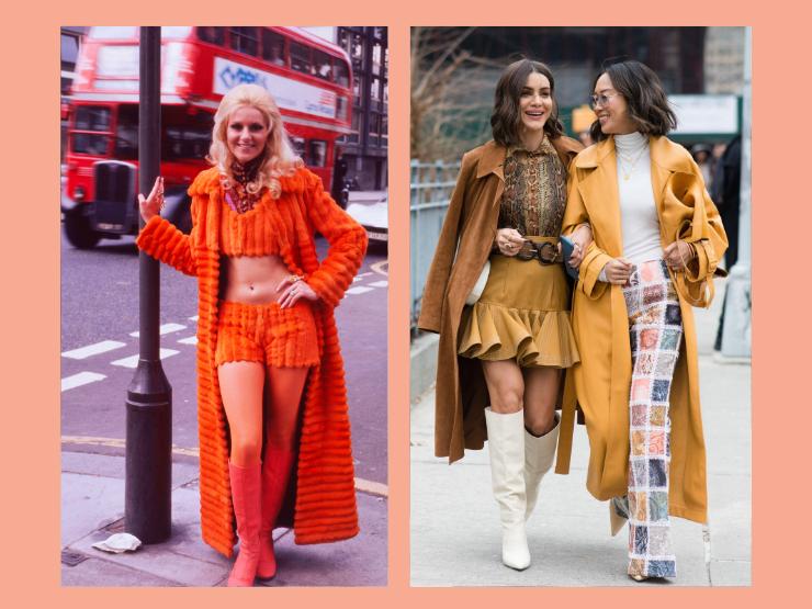 70er Jahre Mode, lange Mäntel