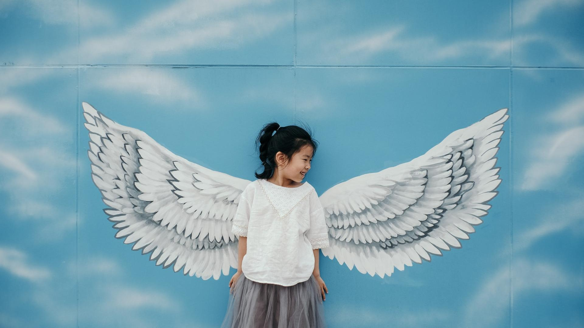 Mädchen Engel Flügel