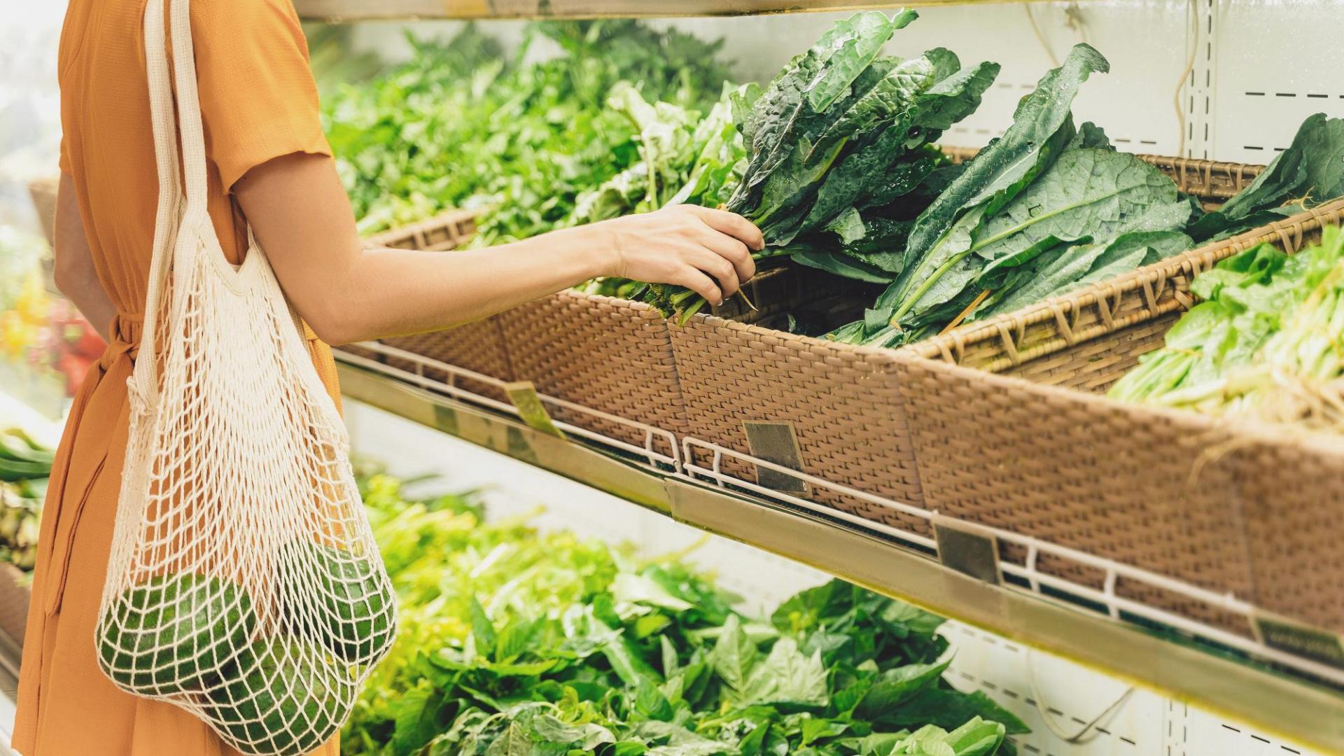 Einkaufen Frau Avocado