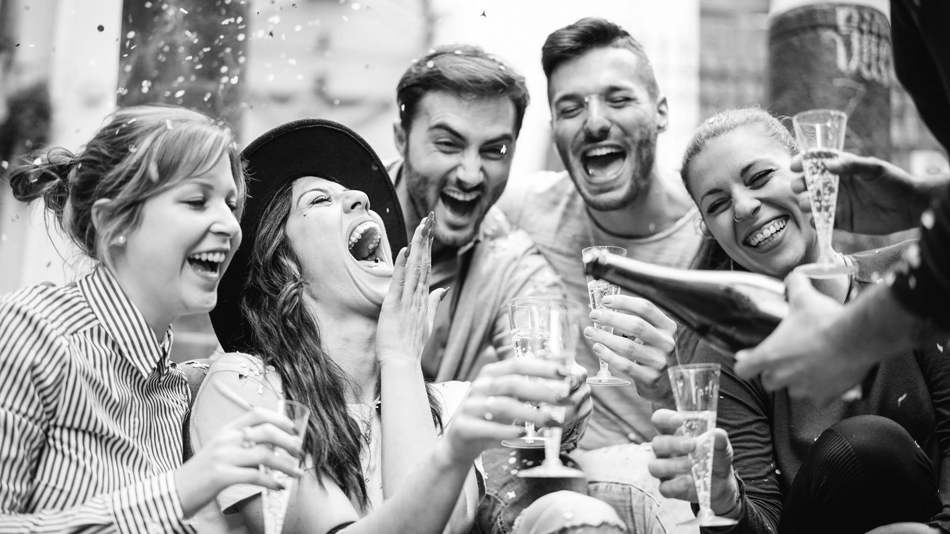Freunde, Feiern, Party