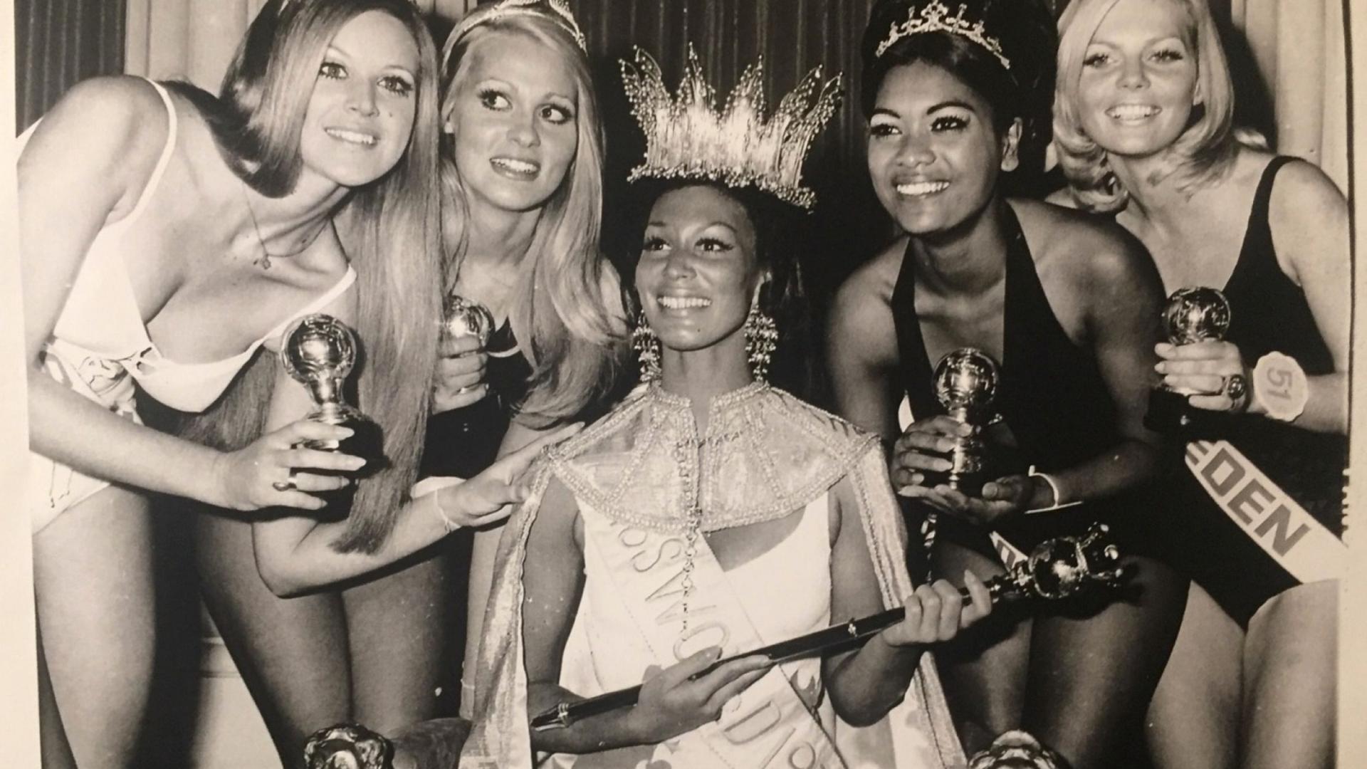 Krönung Miss World 1970 Jennifer Hosten