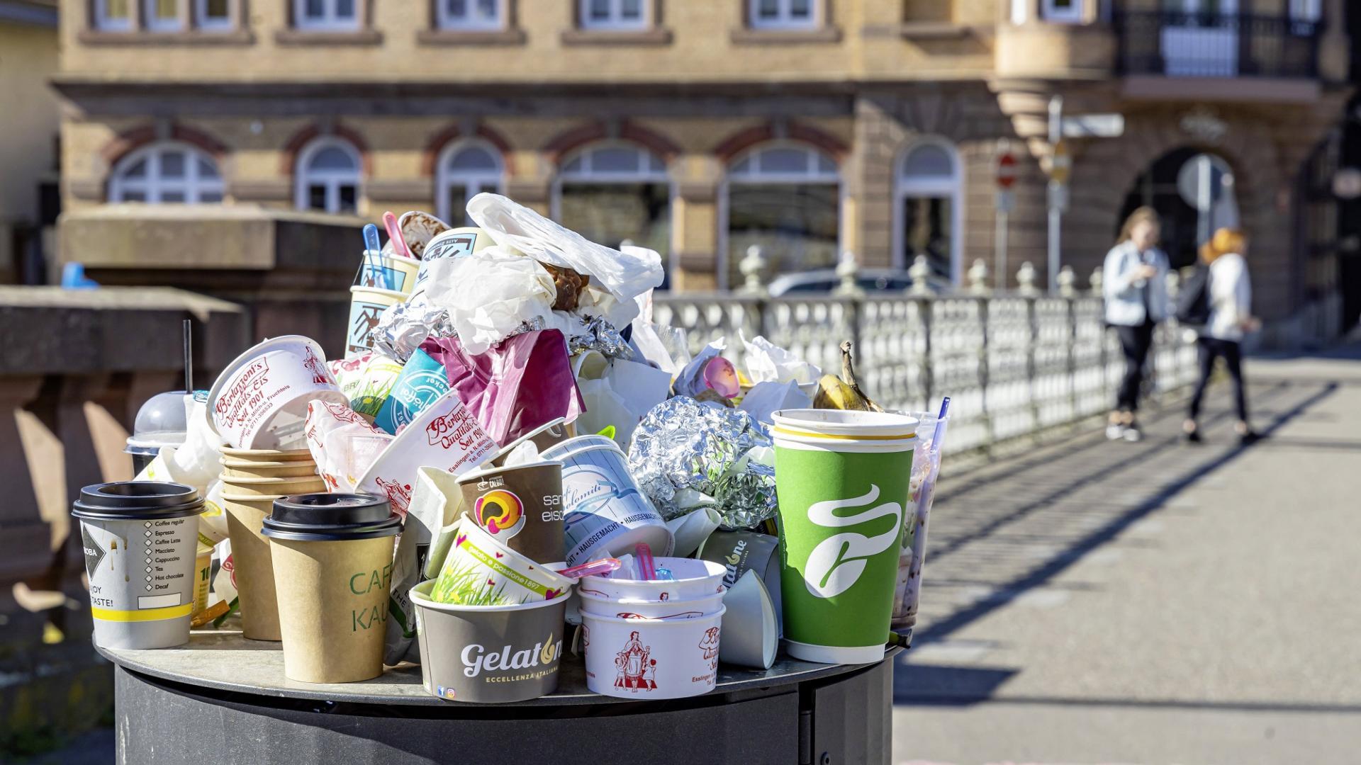 mehrwegbecher, Müll, Plastik