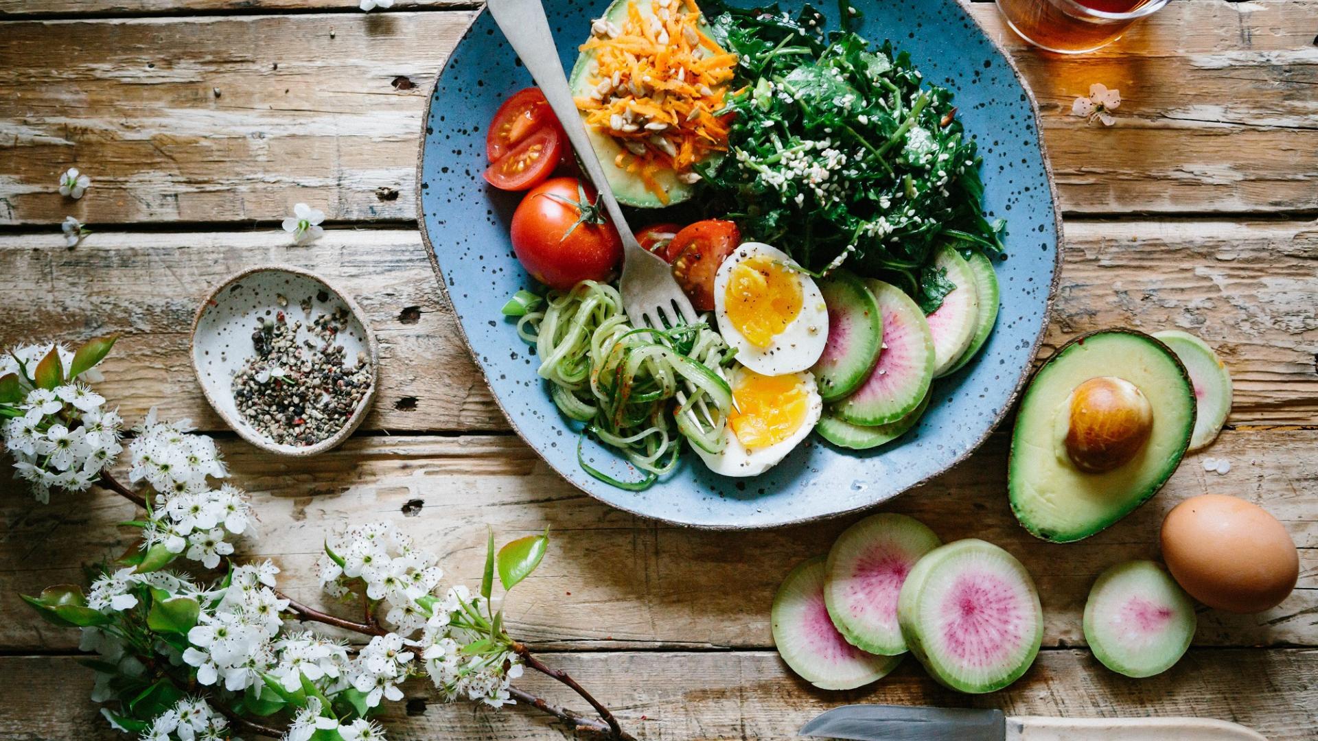 vegetarisch leben, Teller, Ernährung