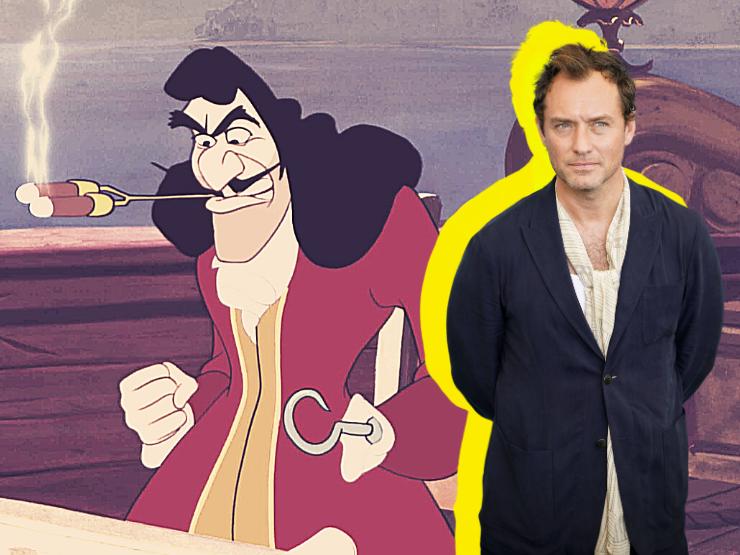 Jude Law als Captain Hook Peter und EWendy Pan Neuverfilmung Disney