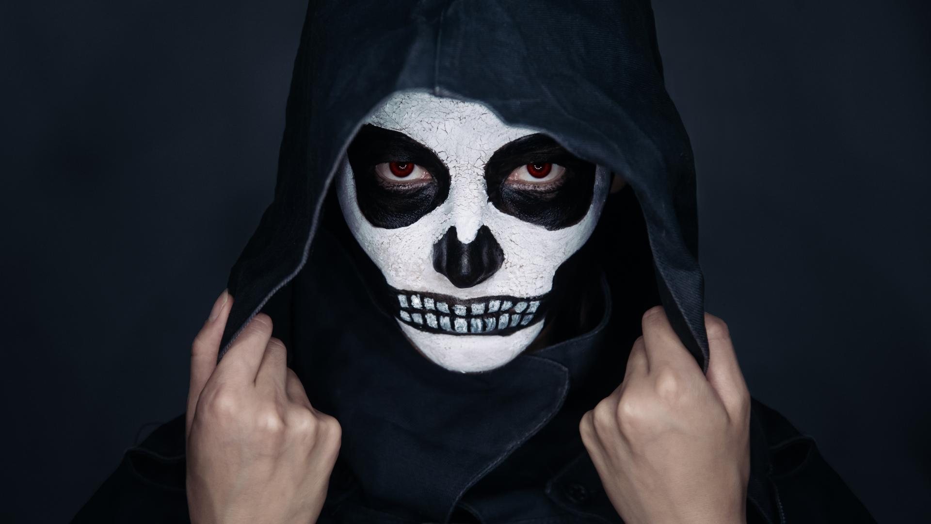 Halloween Skelett Schminkideen
