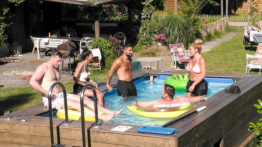 Sommerhaus der Stars Kandidaten am Pool
