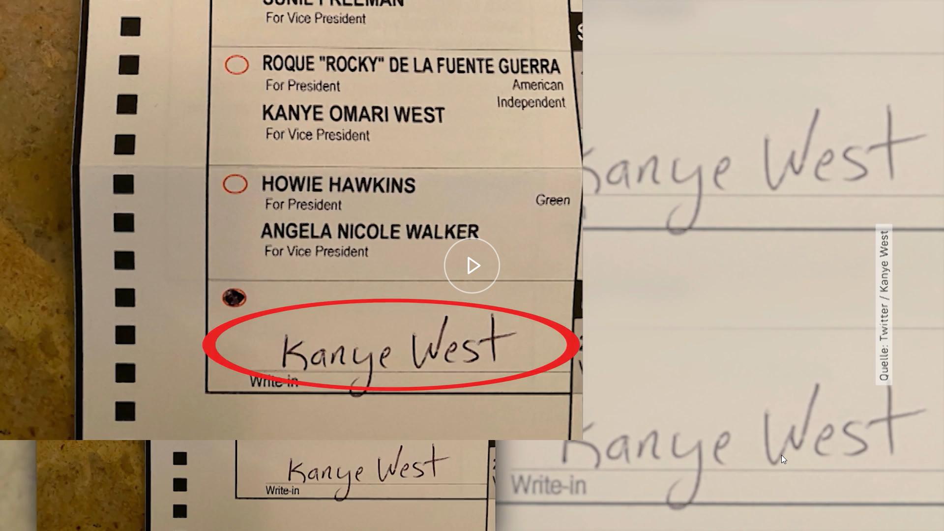 Kanye West Wahlzettel