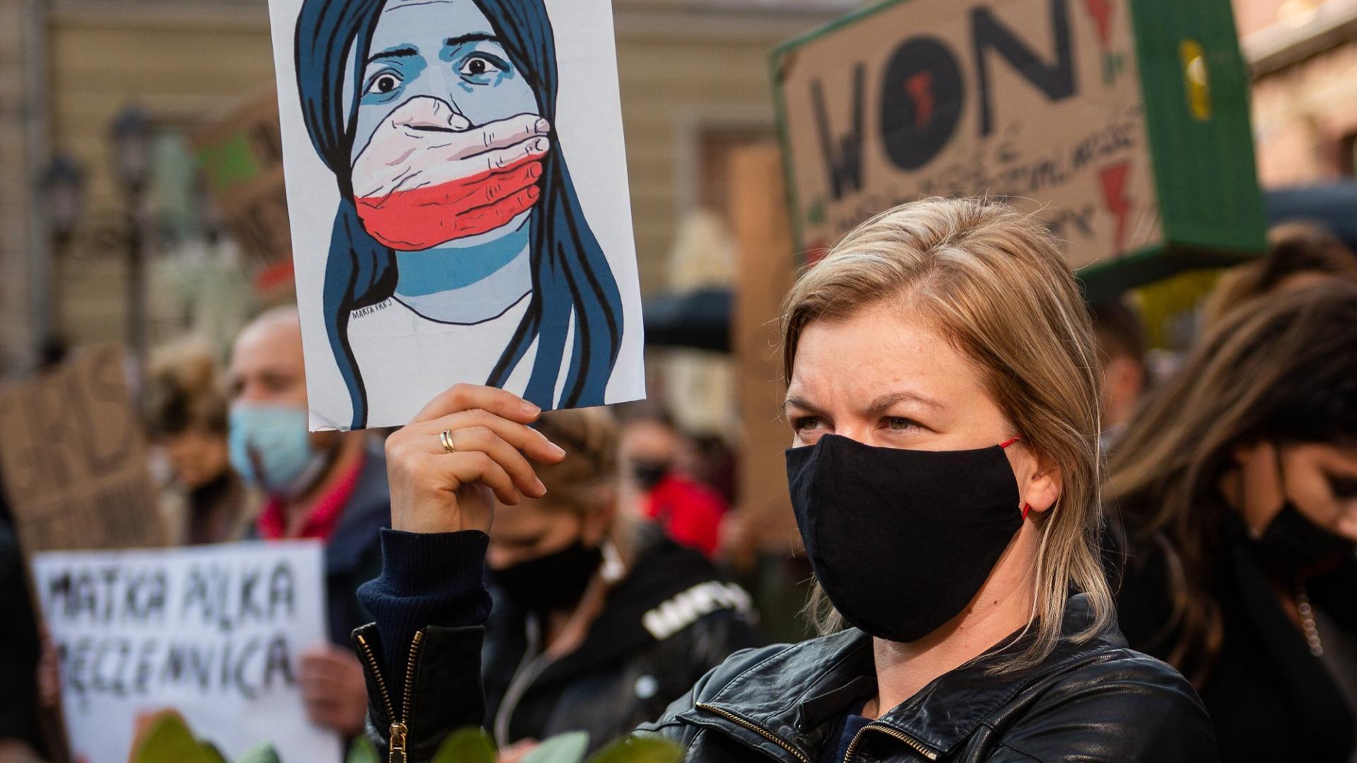 Abtreibungsgesetz, Polen, Demonstrantin