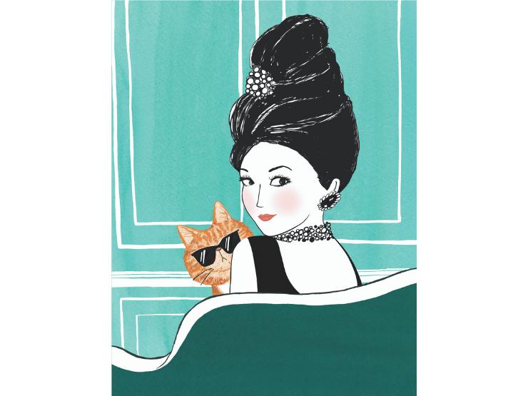 Frauen mit Katzen, Audrey Hepburn