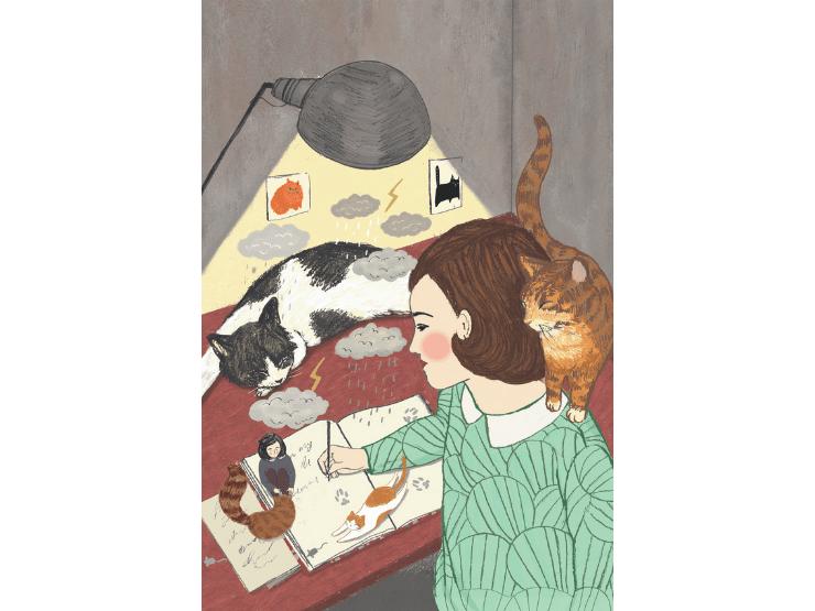 Frauen mit Katzen, Anne Frank