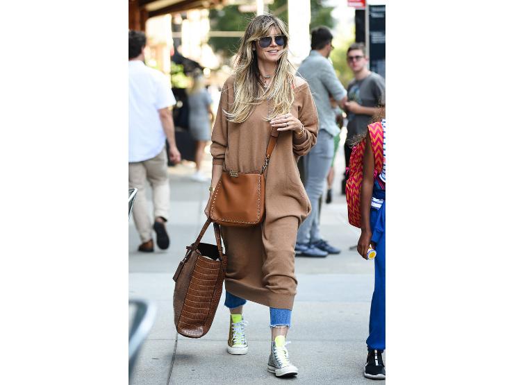 Mismatch, Heidi Klum, Outfit