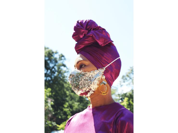 Hochzeitsmaske, Glitzer, Maske, extravagant