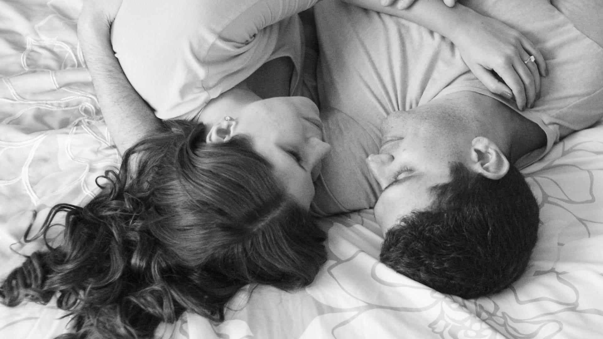 Mann, Frau, Bett