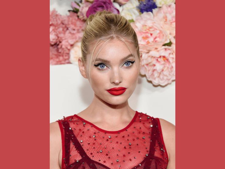 Roter Lippenstift, Elsa Hosk