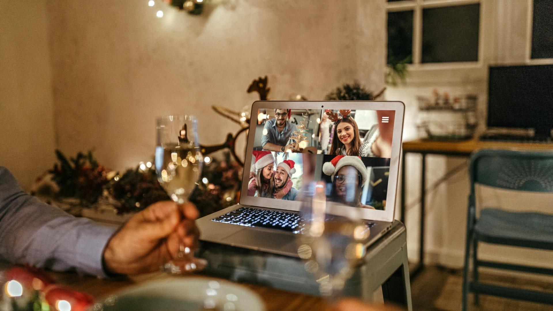 Weihnachten, Videocall, Familie