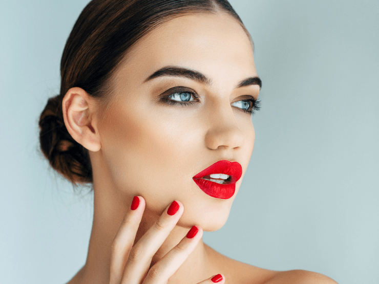 Silvester Make-Up, Rote Lippen