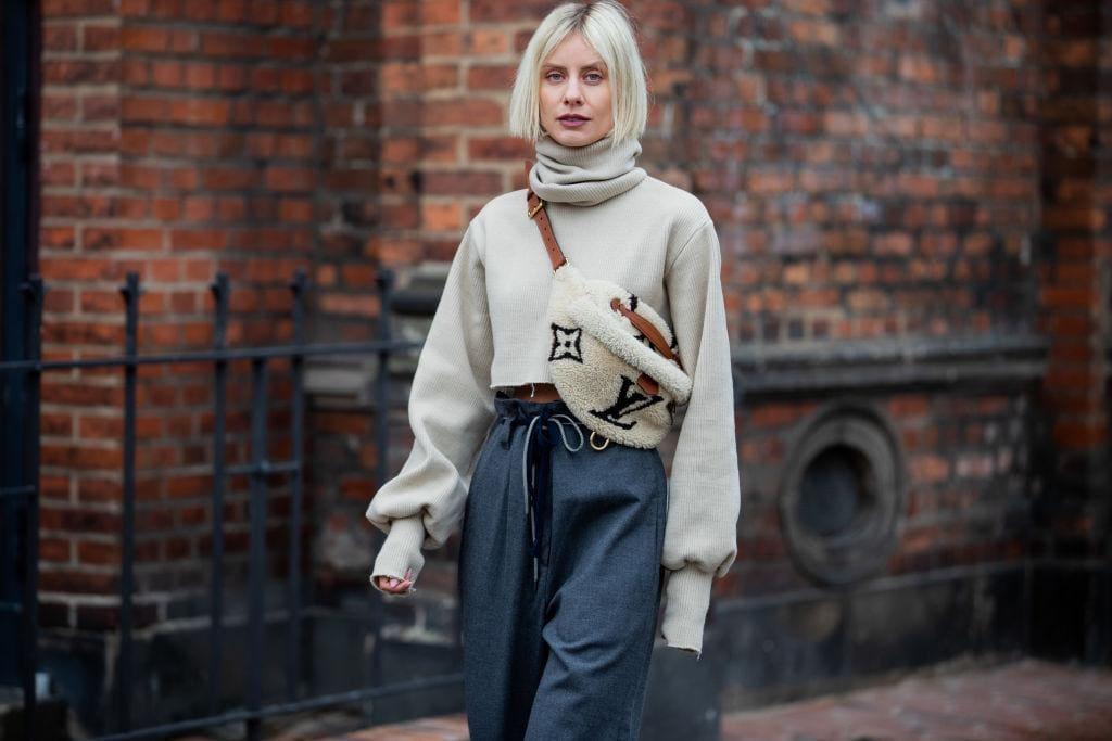 Fashion, Paperbag Pants, Bauchtasche